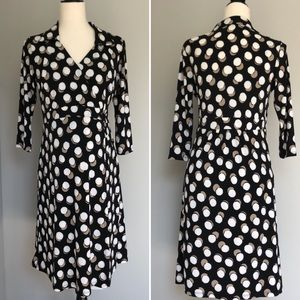 Angel Maternity polka dot surplice dress